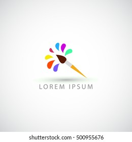 Business Logo Painting Brush Vector Sign