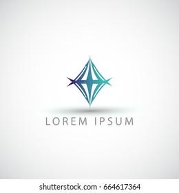 business logo rhombus vector sign