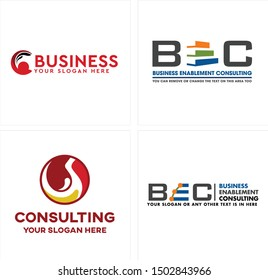 Business logo with stack of books letter E graph and circle liquid splash red suitable for consulting corporate investment service
