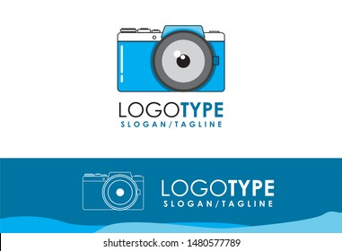 Business logo template for Camera, photography, capture, photo, aperture. blue Visiting Cards with Brand logo template.