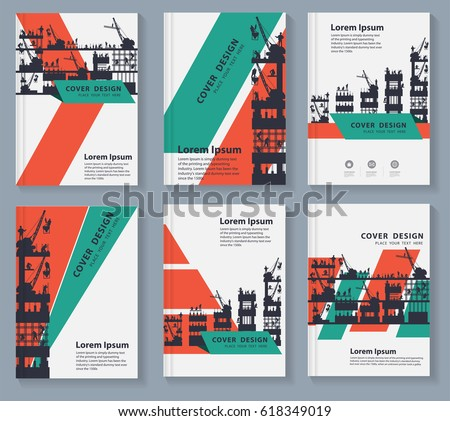 business magazine cover layout design silhouette stock vector