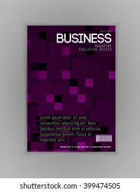 Business magazine cover, vector