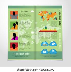 Business magazine, Infographics, Vector