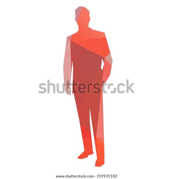 Business man. Abstract geometrical figure
