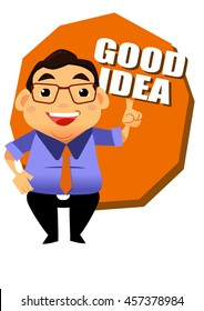 business man or boss  acting and emotion vector toon