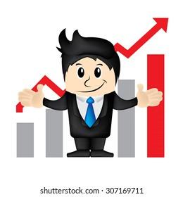 Business man cartoon character vector illustration