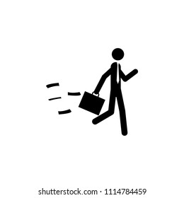 business man with a diplomat icon. Element of people at work icon for mobile concept and web apps. Detailed business man with a diplomat icon can be used for web and mobile on white background