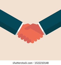 business man hand shaking symbol icon