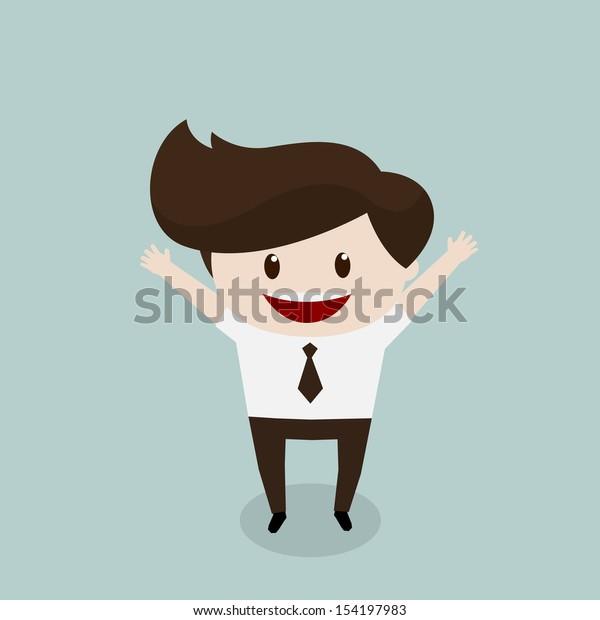 Business man - Happy