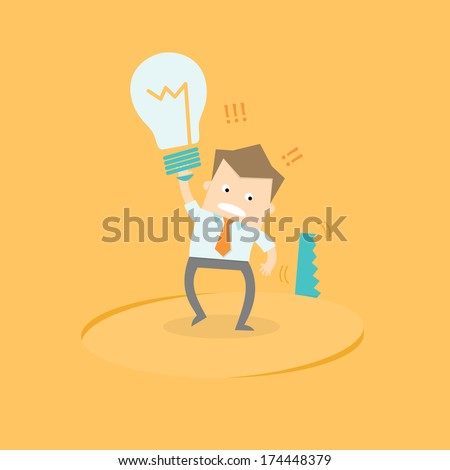 Business Man Has Idea Stolen Stock Vector (Royalty Free