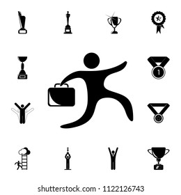 business man icon. Detailed set of Sucsess and awards icons. Premium quality graphic design sign. One of the collection icons for websites, web design, mobile app on white background
