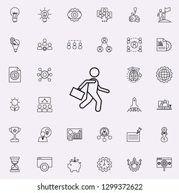 business man icon. Startup icons universal set for web and mobile