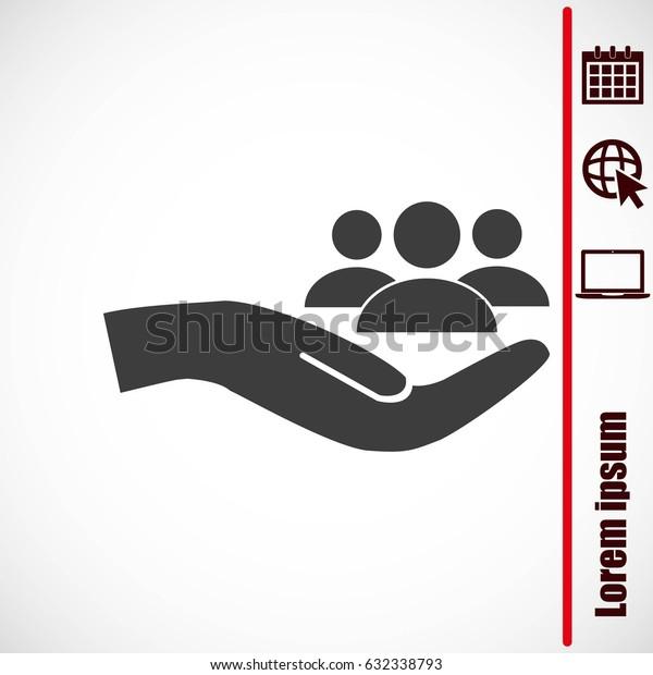 Business man icon.   team work