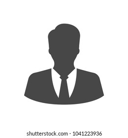 Business man icon in trendy flat style isolated on white background. Symbol for your web site design, logo, app, UI. Vector illustration, EPS