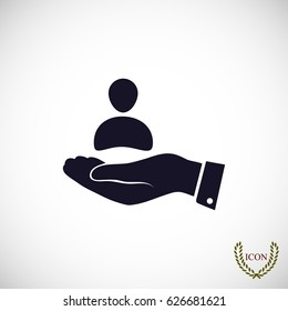 business man icon, vector best flat icon, EPS
