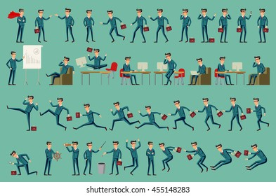 Business man isolated vector set male peple art