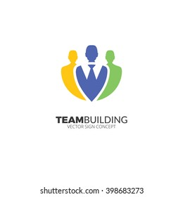 Business man logo illustration. Design concept for human resource and professional headhunting.