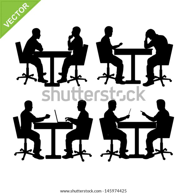 Silhouette of men stencil, Businessperson Illustration, Business people  transparent background PNG clipart | HiClipart