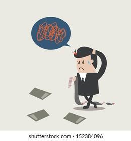 Business man Owes a debt