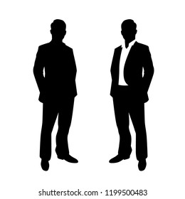 Business Man Pose Male Standing Hands In Pockets