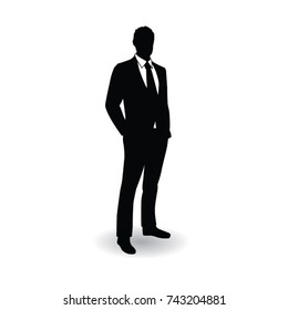 business man silhouette pose