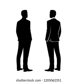Business Man Silhouette Turned Back