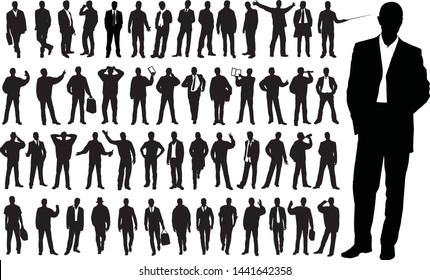 Business man standing illustration vector