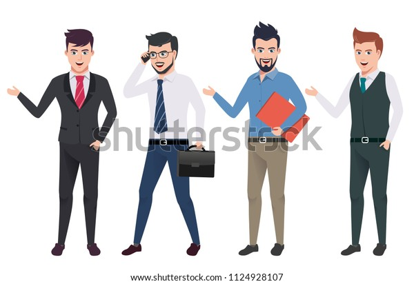 Business Man Vector Characters Set Professional Stock Vector