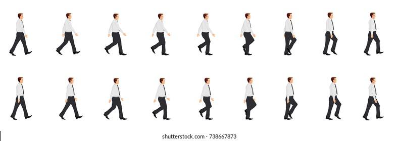 Business man walk cycle