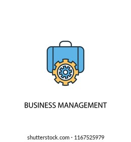 business management concept 2 colored line icon. Simple yellow and blue element illustration. business management concept outline symbol design from Management set