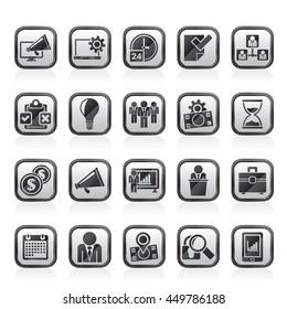 Business management concept icons - vector icon set