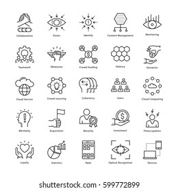Business Management and Growth Vector Line Icons 25