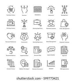 Business Management and Growth Vector Line Icons 43