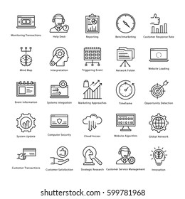 Business Management and Growth Vector Line Icons 8