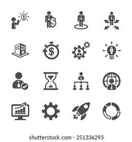 business and management icon set 4, vector eps10.