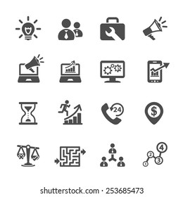 business and management icon set 8, vector eps10.
