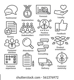 Business management icons in line style. Career progress, strategy and business process.  Pack 26.