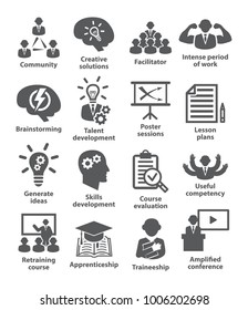 Business management icons. Pack 31.