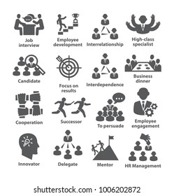 Business management icons. Pack 33.