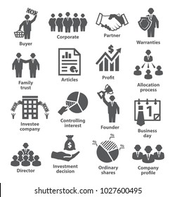 Business management icons Pack 38