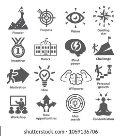 Business management icons Pack 41 Icons for leadership, career, strategy