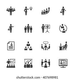Business Management Icons - Set 1