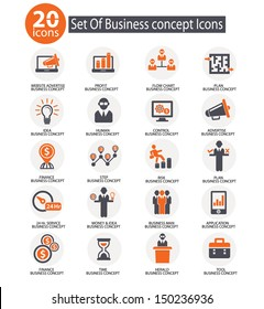 Business management icons,vector
