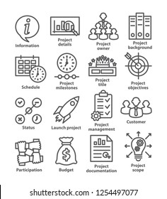 Business management line icons. Pack 44.