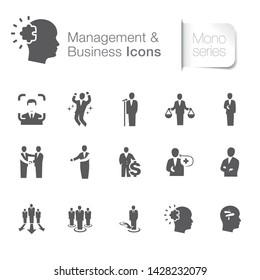 Business & management related icons