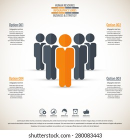 Business management, strategy or human resource infographic.EPS 10 vector. Can be used for any project