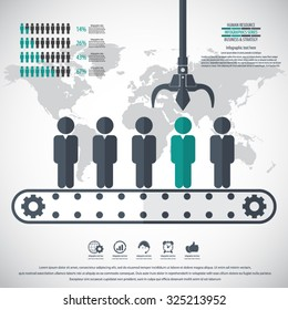 Business management, strategy or human resource infographic. EPS 10 vector.Can be used for any project