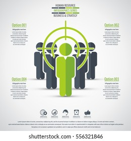 Business management, strategy or human resources infographic. Human resource icon. EPS 10 vector. Can be used for any project