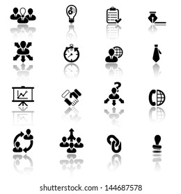 Business management and strategy icons