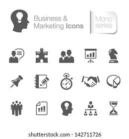 Business & marketing related icons